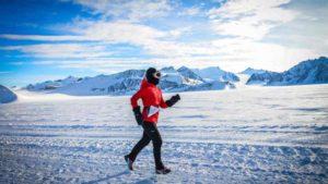 Vivian Lee of Encinitas earlier ran the North Pole Marathon.