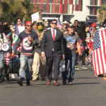 Bordertown Patriots march