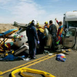 Paramedics free trapped people