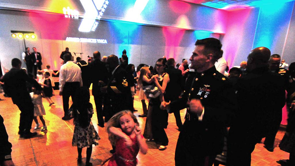 About 320 participants attended the YMCA Armed Services Father & Daughter Dance at the Town and Country Hotel.
