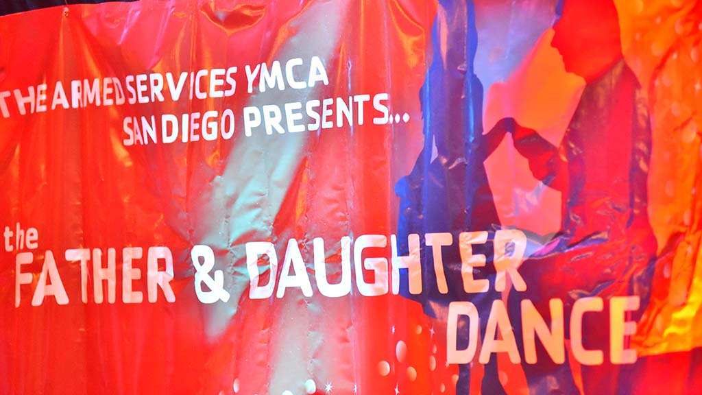 The Armed Services YMCA San Diego hosted the Father & Daughter Dance in Mission Valley.