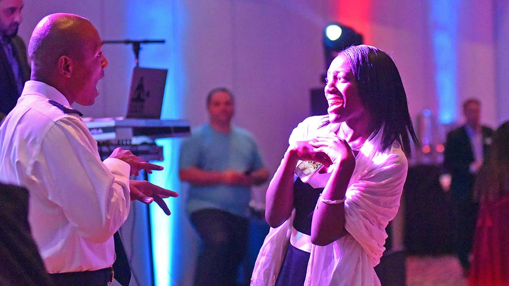 Leonard Eugene and his daughter Le'Ona enjoyed themselves on the dance floor.