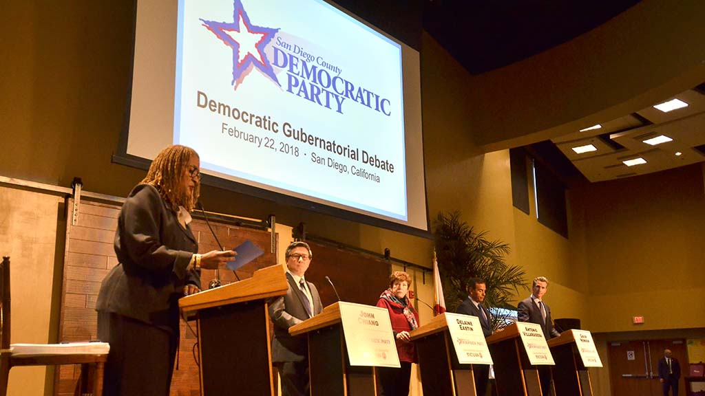 Democratic gubernatorial candidates debate in San Diego.