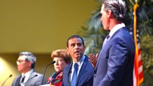 Democratic gubernatorial candidate Antonio Villaraigosa compares his record to Gavin Newsom's.