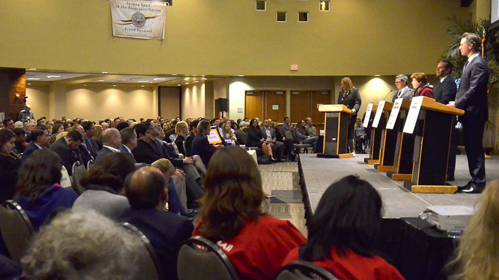 A gubernatorial candidates debate was held in east San Diego.
