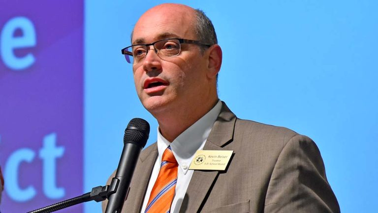 Kevin Beiser, president of the SDUSD board of education, believes gun control, not arming teachers is the solution to school shootings.
