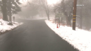 Palomar Mountain snow