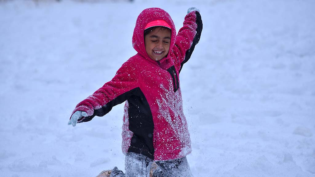With winter finally hitting the San Diego County mountains, residents played in the snow.