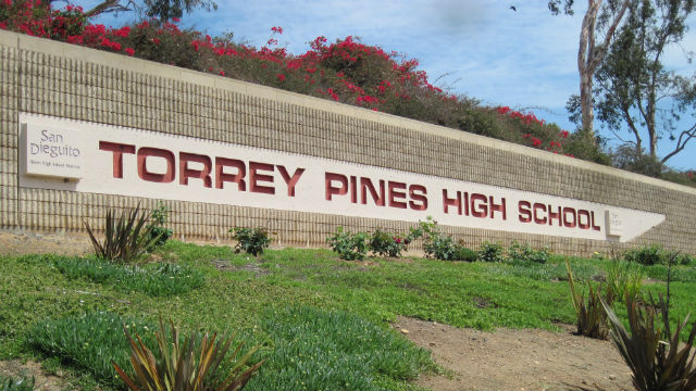 Torrey Pines High School sign