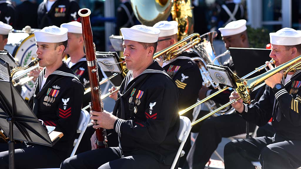 Members of the U.S. Navy Band Southwest performed at the commissioning ceremony.