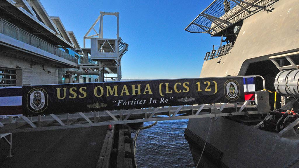 The USS Omaha was commissioned on the Broadway Pier.