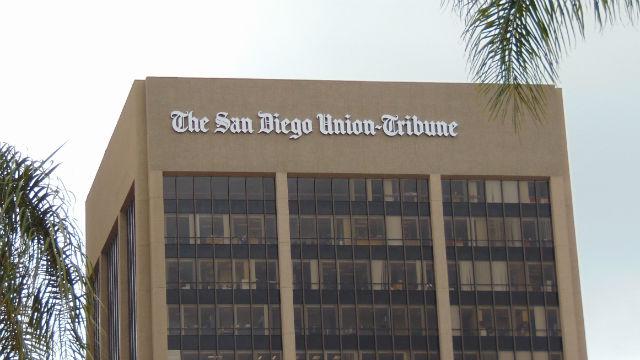 Union-Tribune sign on building