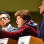 Delaine Eastin gestures during Democratic gubernatorial debate in San Diego.