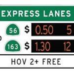 15 Freeway Express Lanes Signage