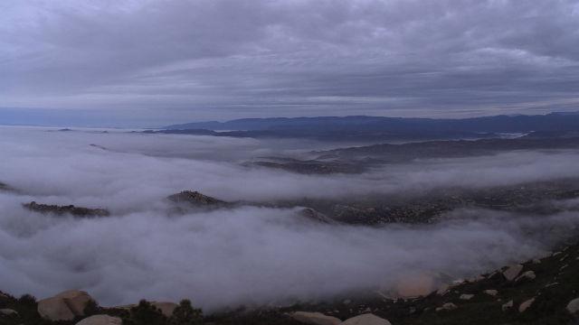 Coastal fog in North County