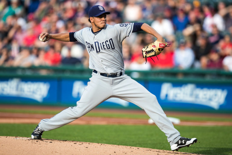 Dinelson Lamet- Padres at Indians