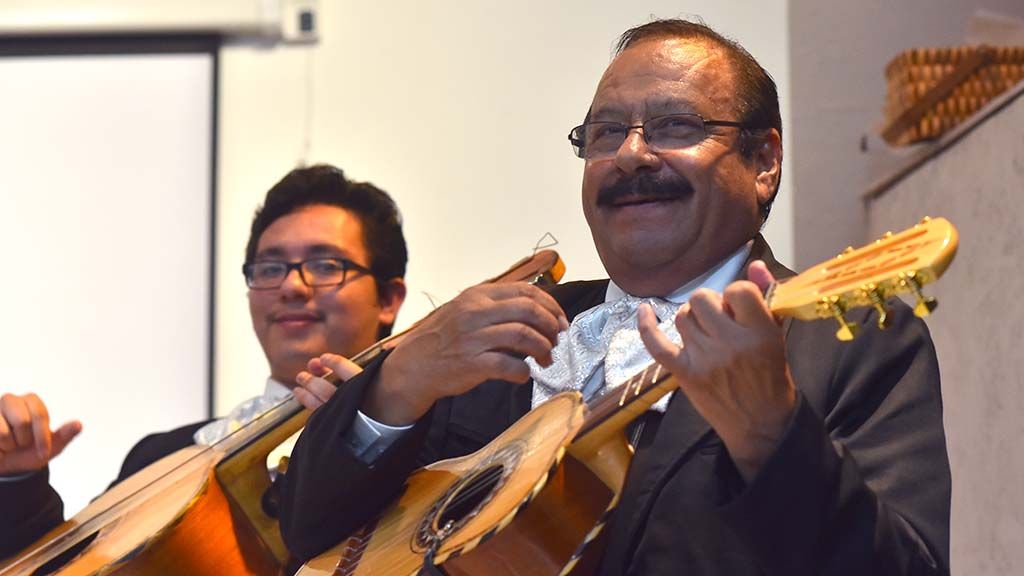 Mariachis provided music for the farewell party.