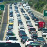 Heavy traffic on Interstate 5
