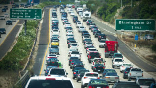 Heavy traffic on Interstate 5