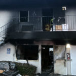 Damage from Lakeside apartment fire