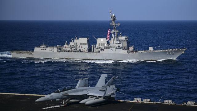 USS Theodore Roosevelt and USS Sampson