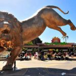 San Diego Zoo unveiled a more than 27-foot-tall bronze lion at the Zoo's entrance.