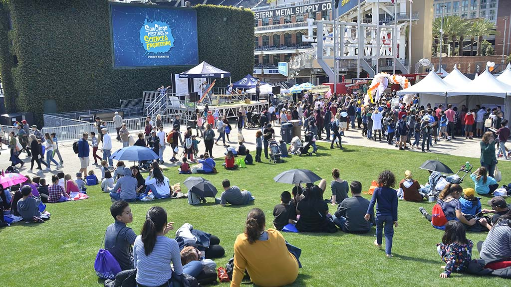 Thousands of parents and children flocked to the Festival of Science & Engineering at Petco Park.