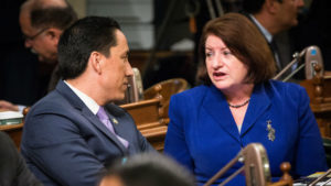 Toni Atkins and Todd Gloria