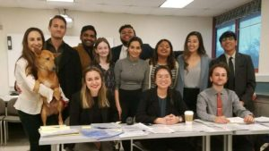 "UCSD mock-trial ""C"" team for 2017-2018 season"