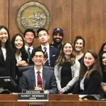UCSD mock-trial team qualifiers for 2018 national championships and coaches.