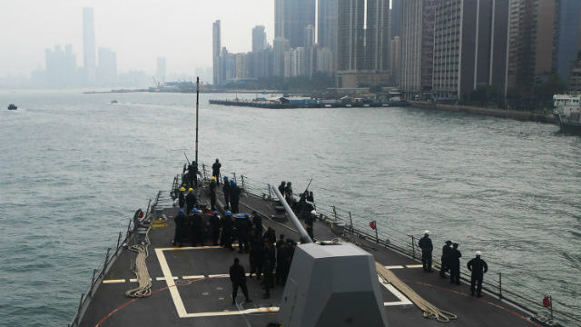 USS Sterett arrives in Hong Kong