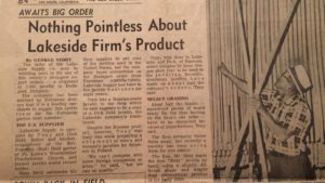 June 1962 story in The San Diego Union about Held family javelin business in Lakeside.