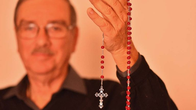 Tony Blanco, a parishioner of Corpus Christi Catholic Church has made thousands of rosaries for free distribution.
