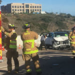 San Diego Fire-Rescue personnel at the crash