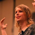 Chelsea Manning answers questions posed by audience members.