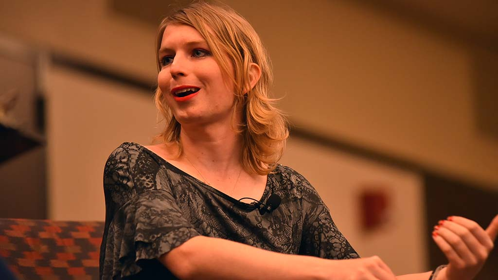 Chelsea Manning spoke of her release of classified documents.