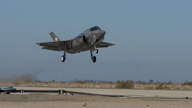 F-35B landing
