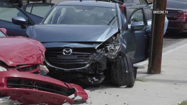 Carjacking wreckage