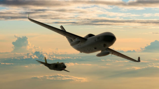 MQ-25 in flight