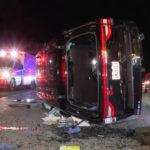 The overturned SUV