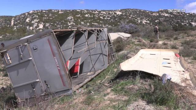 Wrecked horse trailer
