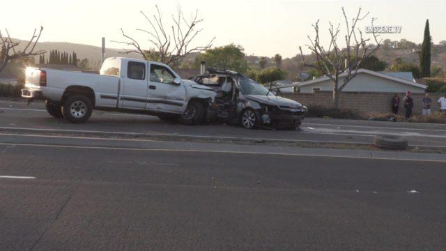 Truck crash in Poway
