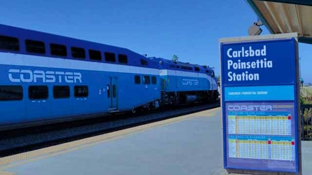 Carlsbad's Poinsettia train station.
