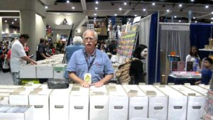 Bud Plant with his wares at 2017 San Diego Comic-Con