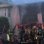 Crest garage fire