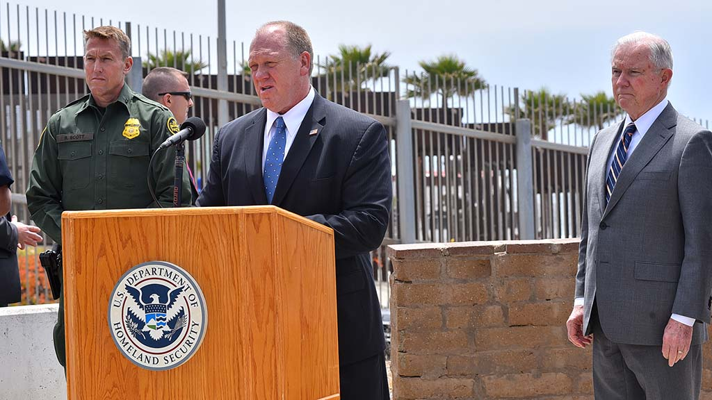 Thomas D. Homan, acting director of ICE, spelled out immigration policy.