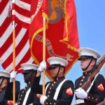 Marine Color Guard presented the colors at Mt. Soledad National Veterans Memorial.