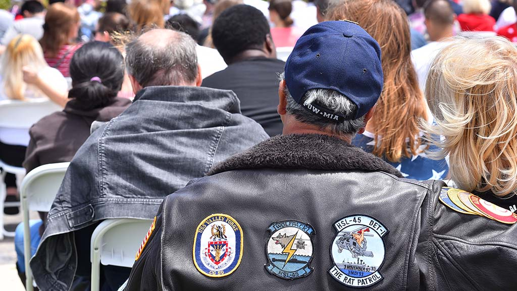 A former POW attends the ceremony at Mt. Soledad National Veterans Memorial.