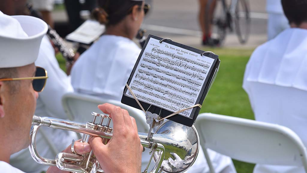 Members of the Navy Band Southwest provided music for the ceremony at Mt. Soledad National Veterans Memorial.