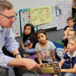 Rep. Scott Peters reads to schoolchildren